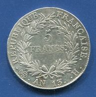 PIECE 5 FRANCS NAPOLEON EMPEREUR AN 13H - France