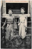 CPA Cambodge Asie Asia écrite Type - Cambodge