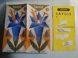 SAVOIE. ALPES DE FRANCE SAVOIE + 800 HÔTELS VOUS OFFRENT DES PRIX TOUT COMPRIS - FRANCE, ÉTÉ 1958. - Toeristische Brochures