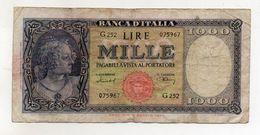 """Italia - Banconota Da Lire 1.000  Italia Ornata Di Perle/Medusa - """" R """" - Decreto 11 Febbraio 1949 - (FDC8564) - [ 2] 1946-… : République"""