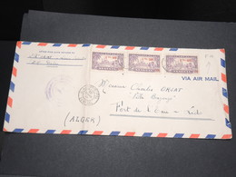 SÉNÉGAL - Enveloppe En FM De Dakar Pour Alger En 1944 Par Avion - L 14164 - Sénégal (1887-1944)