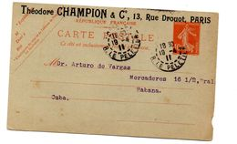 Entero Postal De Francia Circulado De 1911. - Enteros Postales