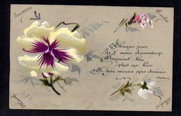 CPA FANTAISIE CELLULOID CELLULOIDE - SIGNEE ROSTAND - Chaque Jour Je T'aime - Peinte à La Main - Fleurs - #630 - Fantaisies