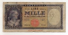 Italia - Banconota Da Lire 1.000  Italia Ornata Di Perle/Medusa - Decreto 20 Marzo 1947 - (FDC8567) - [ 2] 1946-… : Républic