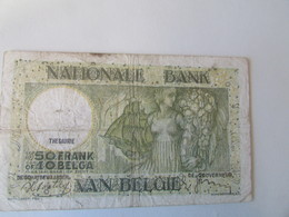 Bank Van Belgie, 50 Frank Of 10 Belga, 1938 - [ 3] Duitse Bezetting Van België