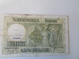 Bank Van Belgie, 50 Frank Of 10 Belga, 1938 - [ 3] Occupazioni Tedesche Del Belgio