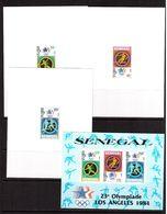 Senegal-1984,(Mi.817-819,Bl.46), 3 Luxe +Bl.-cardboard, Football, Soccer, Fussball,calcio,MNH - Calcio