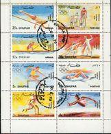 Dhufar/ Jeux Olympiques Munich 1972 - Bloc Feuillet De 8 Valeurs Oblitérés - Saut,cyclismes,aviron,escrime,course Etc... - Oman