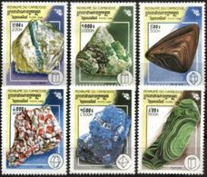 CAMBODIA, 1998, MINERALS, YV#1583-88, MNH - Otros