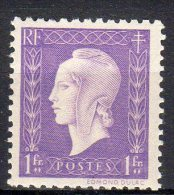 MARIANNE DE DULAC 1945 -   1F Vlilas - N° 689** - 1944-45 Marianne De Dulac
