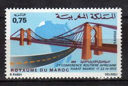 Morocco. Maroc 1972 The 2nd African Highways Conference, Rabat.bridges..MNH - Morocco (1956-...)