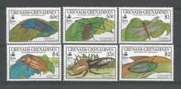 Grenada Grenadines 1990  Insects  Y.T. 1083/1086+1113/1115 ** - Insects