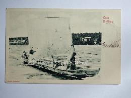 FINLANDIA  Finland OULU ULEABORG Boat Fisherman AK Old Postcard - Finlandia