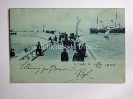 BELGIO BELGIUM OOSTENDE OSTENDE Ship Boat AK Old Postcard - Oostende
