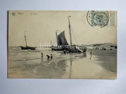 BELGIO BELGIUM Knokke Heist La Plage Ship Sailing Boat AK Old Postcard - Heist