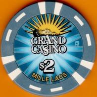 $2 Casino Chip. Grand, Mille Lacs, MN. L24. - Casino