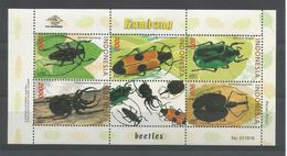 Indonesia 2001  Insects Sheet  Y.T. 1902/1906 ** - Insects