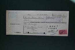 LETTRE DE CHANGE STATION SERVICE DES ARENES 37 BOULEVARD EMILE COMBES ARLES 1954 - Bills Of Exchange