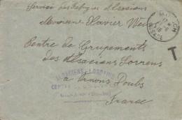 Pli En Franchise Avec Oblitération Moosch  Alsace (Reconquise), 1915 - Storia Postale
