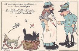 Zu Befehl Herr Hauptmann - Sign. Messmer - Ed.Boéchat, Delemont  (P-113-60810) - Humour