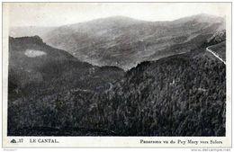 15 Cantal - Cpa / Panorama Vu Du Puy Mary. Circulé. - Sin Clasificación