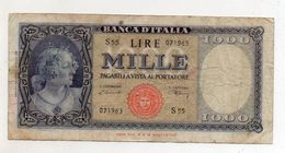 Italia - Banconota Da Lire 1.000  Italia Ornata Di Perle/Medusa - Decreto 20 Marzo 1947 - (FDC8568) - [ 2] 1946-… : Républic