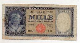 Italia - Banconota Da Lire 1.000  Italia Ornata Di Perle/Medusa - Decreto 20 Marzo 1947 - (FDC8568) - [ 2] 1946-… : République