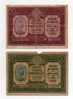 Italia - Cassa Veneta Dei Prestiti - Buono Di Cassa Da 1 Lira E 2 Lire - 2 Gennaio 1918 - (FDC8570) - [ 5] Treasure
