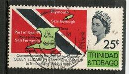 Trinidad And Tobago 1966 25c  Flag Issue #121 - Trinidad & Tobago (1962-...)