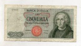 """Italia - Banconota Da Lire 5.000 """" Cristoforo Colombo """" 1 Caravella - Carta Verdina - Decreto 04.01.1968 - (FDC8571) - [ 2] 1946-… : Républic"""