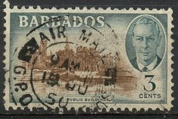 Barbados 1950 3p Public Buildings Issue  #218 - Barbados (1966-...)