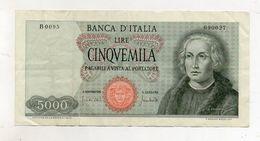 """Italia - Banconota Da Lire 5.000 """" Cristoforo Colombo """" 1 Caravella - Carta Verdina - Decreto 20.01.1970 - (FDC8574) - [ 2] 1946-… : Républic"""