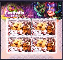 Festivals, San Fermín Festivities, Spain, Burundi 2012 MNH SS - Carnavales