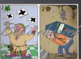 8-340 CZECH REPUBLIC 2007 Jacks Of Leaves - Jacks Of Acorns Playing Cards Humor Jester Jukebox Microbat Bat - Cartes Postales