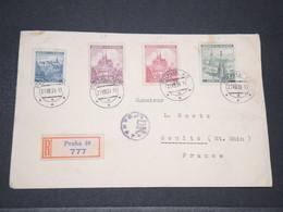 BOHÊME ET MORAVIE - Enveloppe En Recommandé De Prague Pour La France En 1939 - L 14228 - Bohême & Moravie