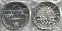 ISRAELE 1975 - 25 IL. SPL / FDC Proof - Argento / Argent / Silver 800 / 000 - Bustina Semplice - Israele