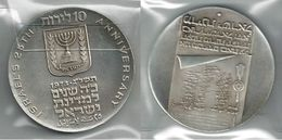 ISRAELE 1973 - 10 IL. SPL / FDC Proof - Argento / Argent / Silver 900 / 000 - Bustina Semplice - Israele