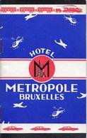 METROPOLE BRUXELLES  -  Indicateur Horaires Et Tarifs - Transportation
