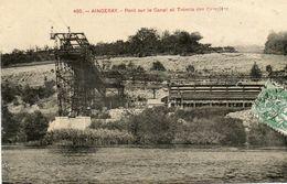 CPA - AINGERAY (54) - Aspect De La Trémie Des Carrières Et Du Pont Enjambant Le Canal En 1913 - Other Municipalities