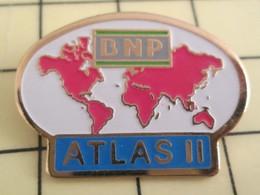 PIN812e Pin's Pins / De Belle Qualité Et Rare / BANQUES : BNP PLANISPHERE DOMINATION MONDIALE ATLAS II - Banks