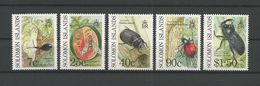 Solomon Islands 1990 Insects  Y.T. 711/715 ** - Insects