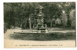 CPA 52 Haute-Marne Chaumont Square Du Boulingrin La Fontaine - Chaumont