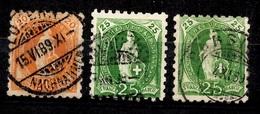 Suisse YT N° 81 Et 82 (2) Oblitérés. B/TB. A Saisir! - 1862-1881 Sitted Helvetia (perforates)