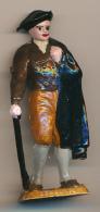 Figurine MOKAREX : BEARNAIS, Province Française, Belle Peinture à La Main, 2 Scans, Cape, Béret, Canne - Figurines