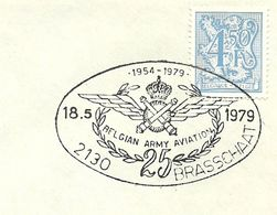 Belgium Special Day Cancel Belgium Army Aviation Brasschaat 18/5/1979 - Vliegtuigen