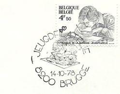 Belgium Special Day Cancel Painting Child Brugge 14/10/1978 - Kindertijd & Jeugd