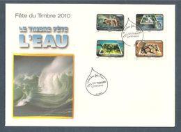 France, Adhésif, 405, 406, 411, 412, FDC 1er Jour, Lens, 27/02/2010, Fête Du Timbre, Le Timbre Fête L'eau - FDC