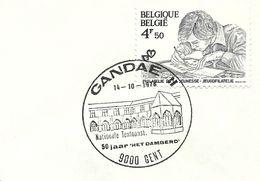 Belgium Special Day Cancel Sint Piersabdij Abey Gent 14/10/1978 - Abdijen En Kloosters