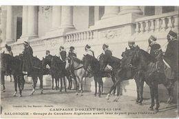 Grèce - Salonique - Groupe De Cavaliers Algériens Avant Leur Départ Pour L'intérieur - Grecia