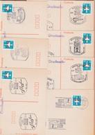 DDR 7 Karten 500 Jahre Post Bautzen Weimar Schwerin Berlin Blankenburg - Post